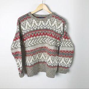 Vintage 90's Grandpa Fair isle Sweater Nordic